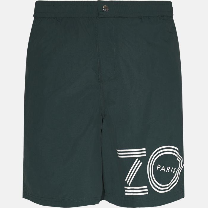Shorts - Regular fit - Grøn